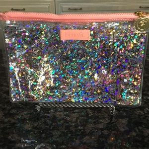 BENEFIT CLEAR CONFETTI POUCH NWOT